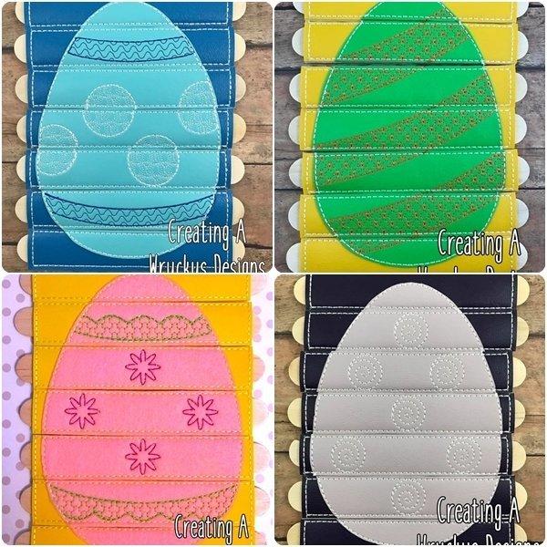 Egg Stick Puzzle Set - Includes 4 Egg stick puzzles