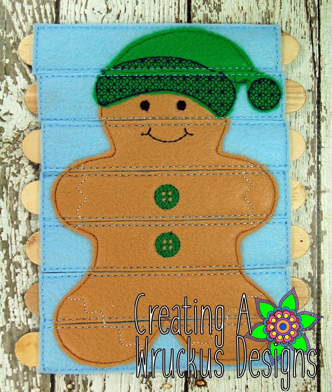 Gingerbread Boy Stick Puzzle