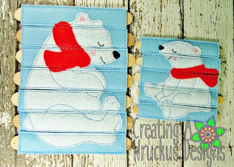 Polar Bear Stick Puzzle 5x7 & 4x4