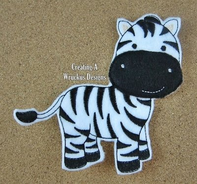 Z is for Zebra Super Sized Feltie