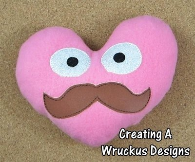 Mustache Stuffed Heart