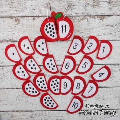 Apple Seed Counting Flip Book