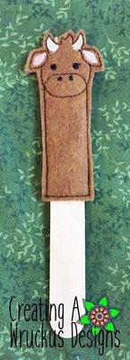 Cow Stick Bookmark