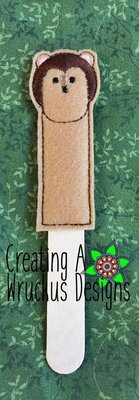 Hedgie Stick Bookmark