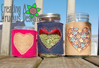 Heart Jar Cover