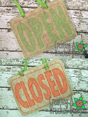 Open & Closed Signs -