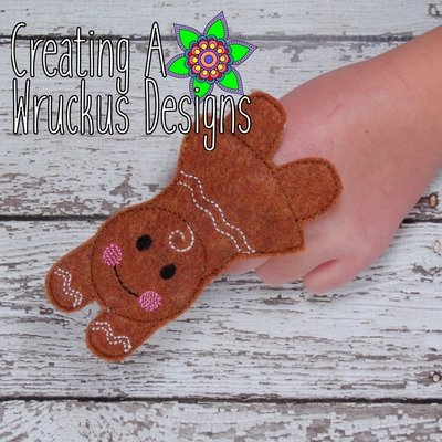 Gingerbread Girl Finger Friend