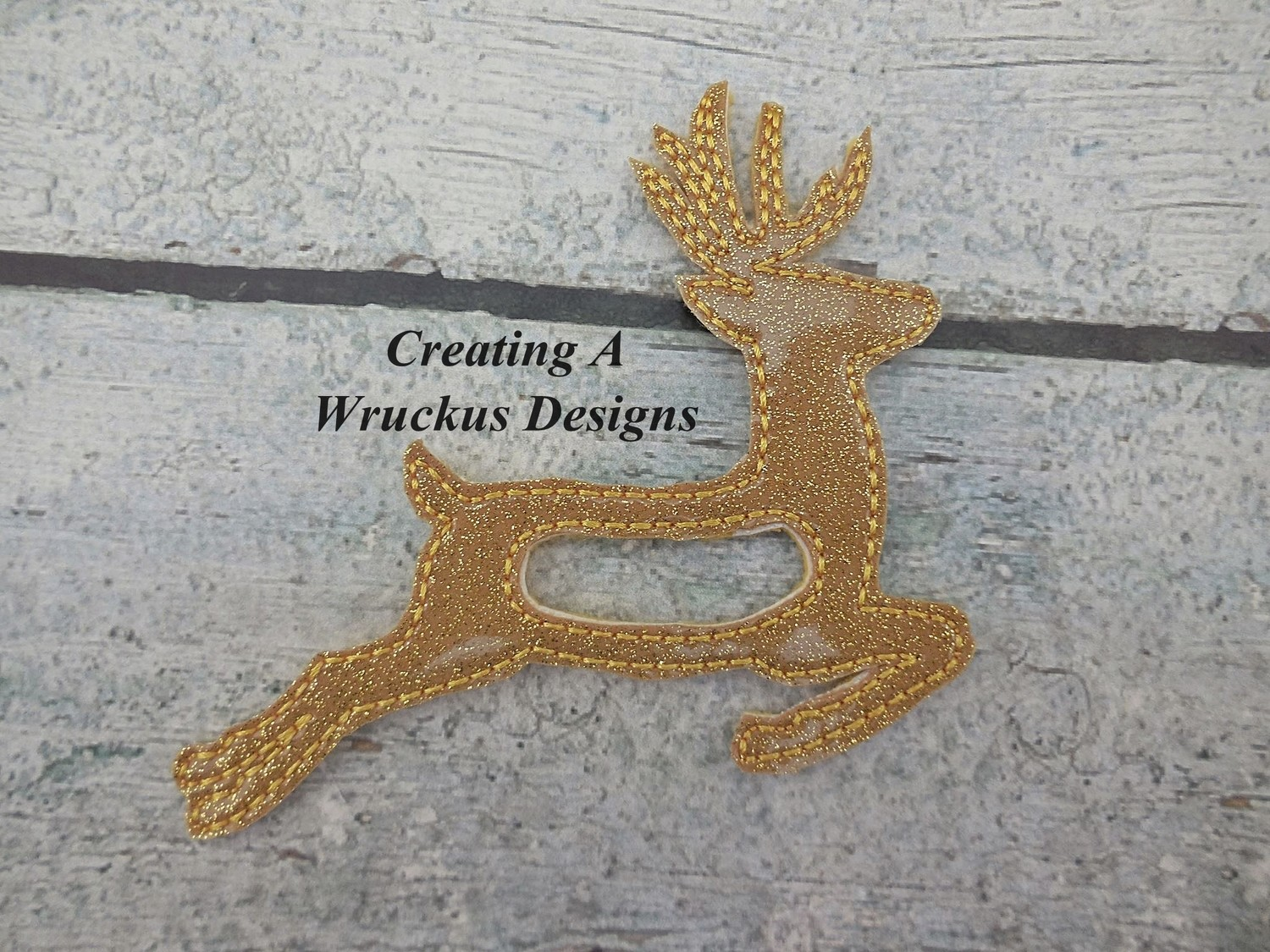 Bounding Deer Napkin Ring