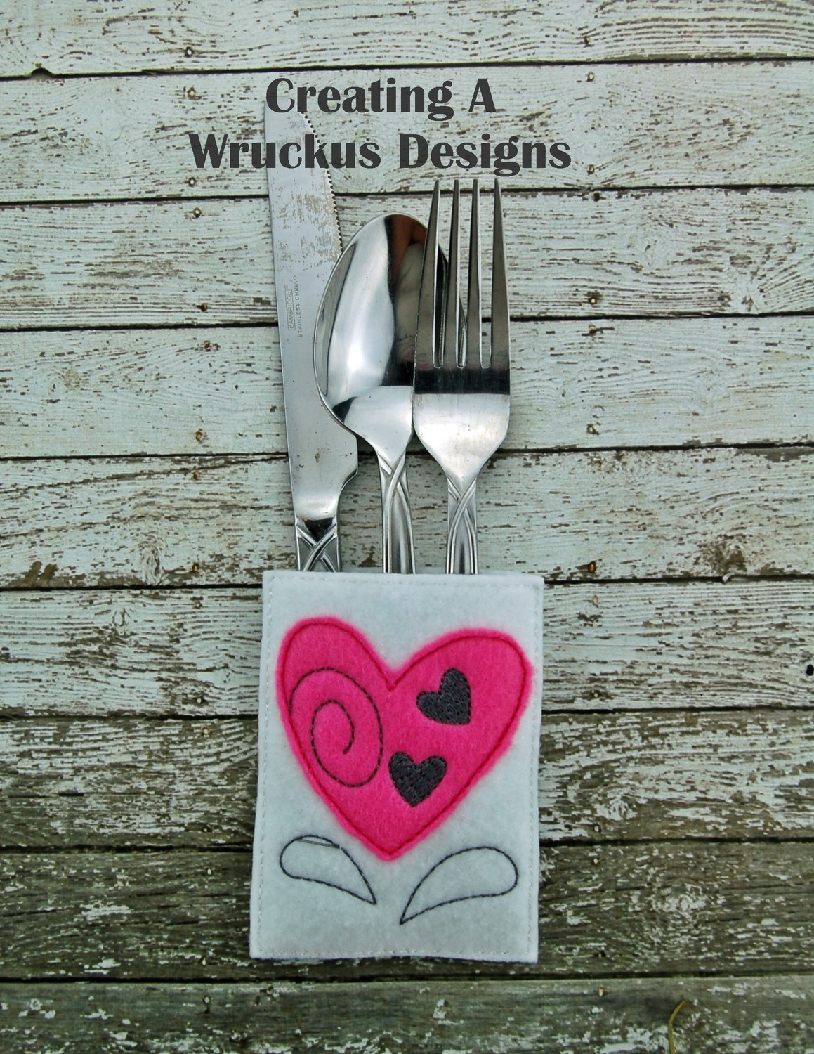Heart Silverware Pocket Five