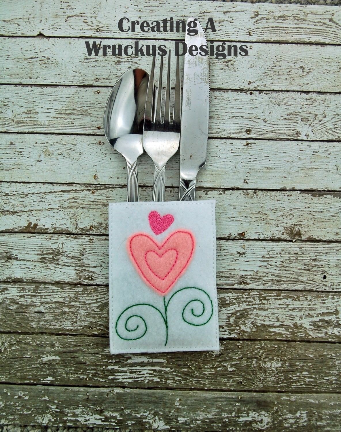 Heart Silverware Pocket Three