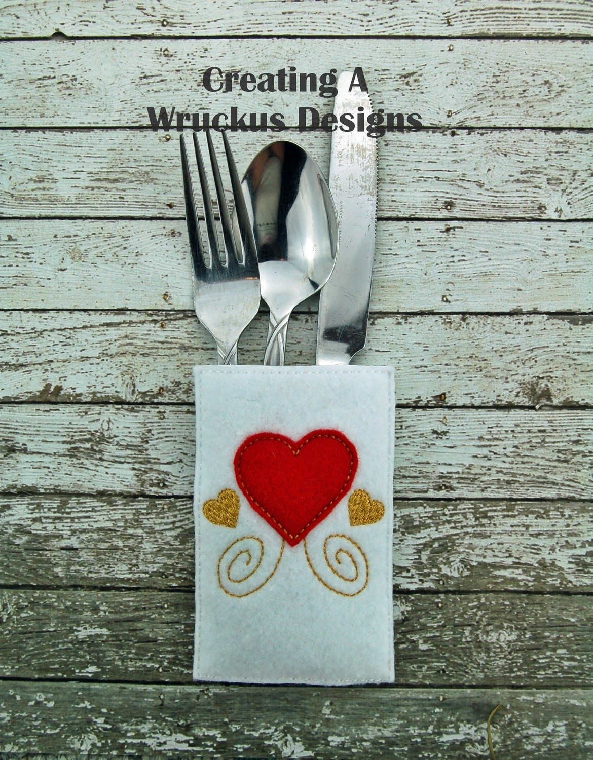 Heart Silverware Pocket Two