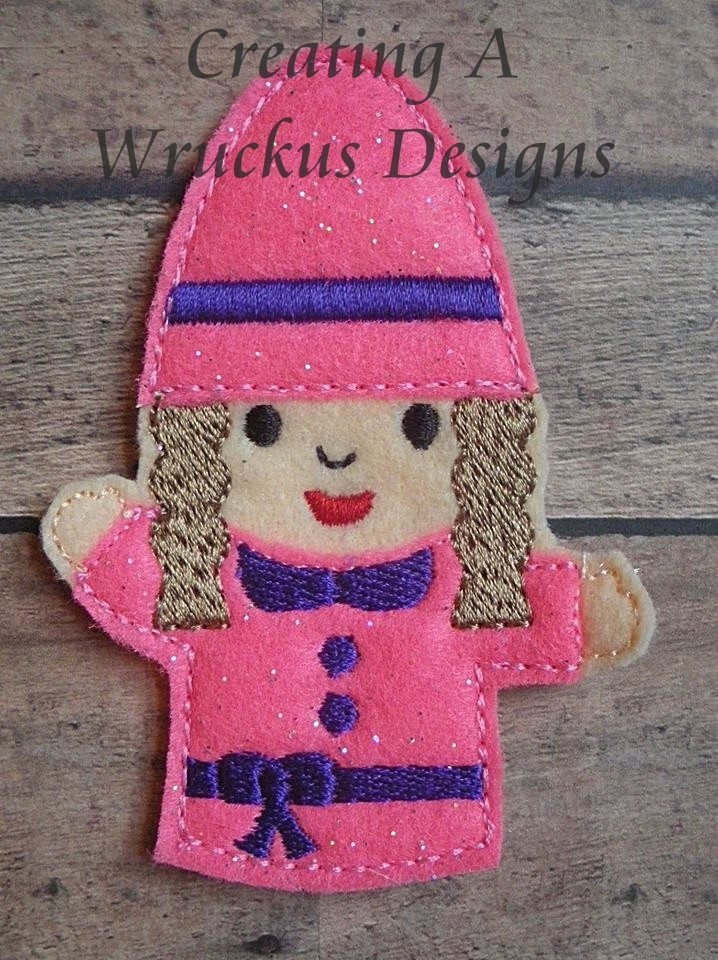 Single Girl Gnome Finger Puppet