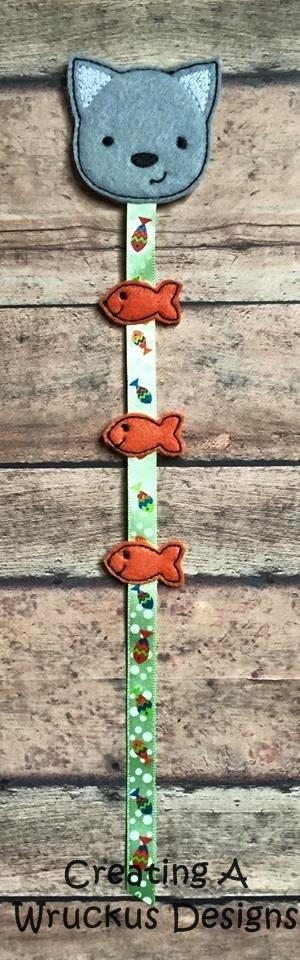 Cat & Fish Braid-In Feltie