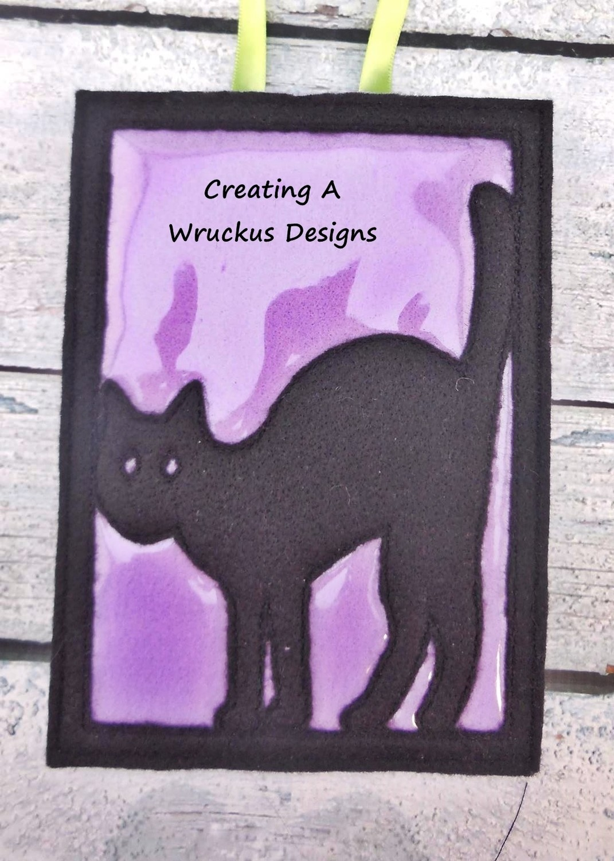 Black Cat Glow Frame