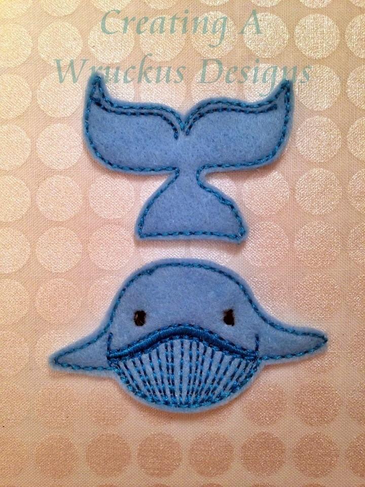 Whale Heads & Tails Feltie
