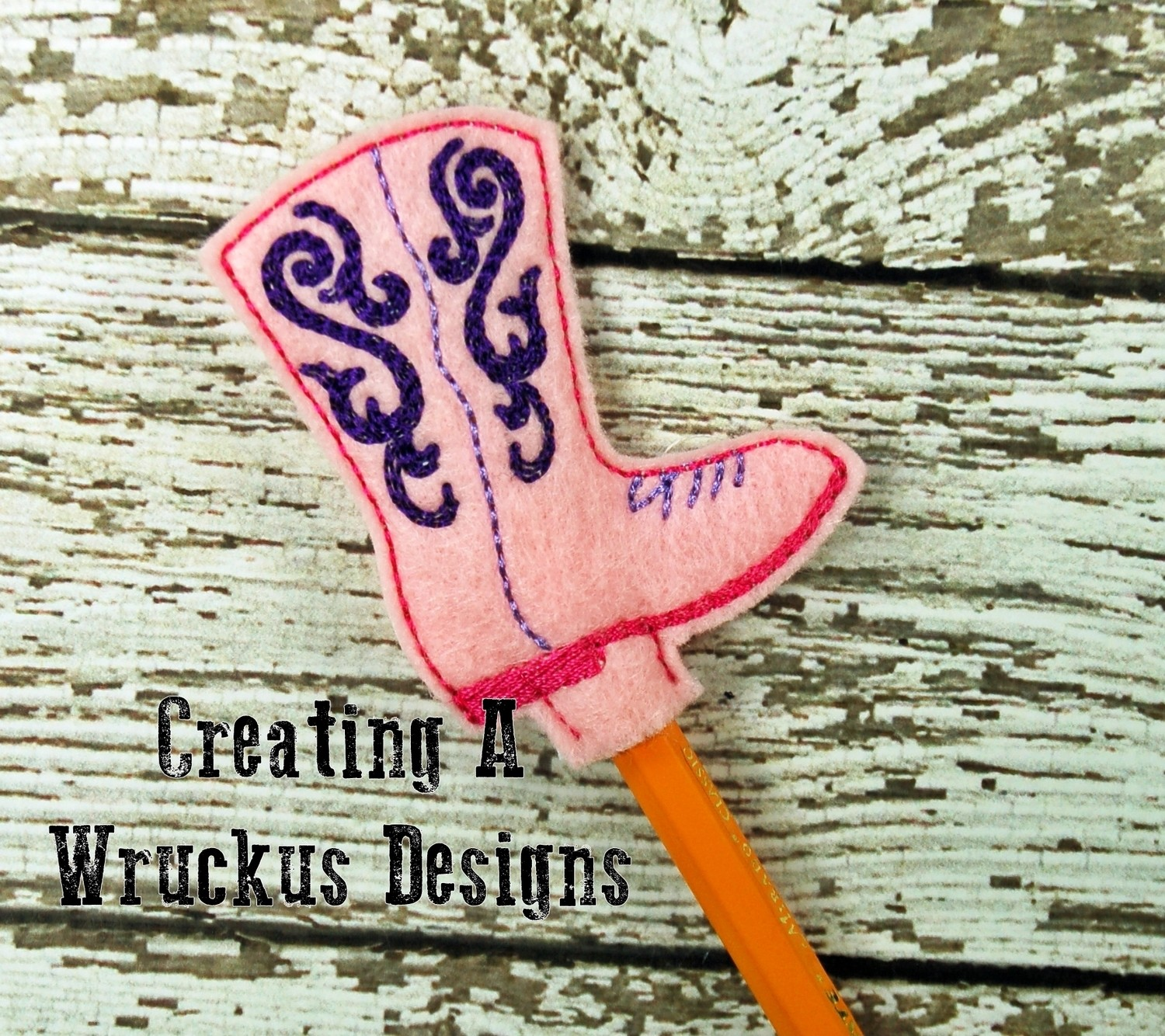 Cowboy Boot Pencil Topper