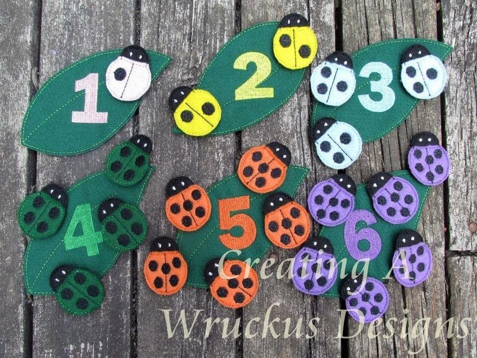 Ladybug Color & Number Sort