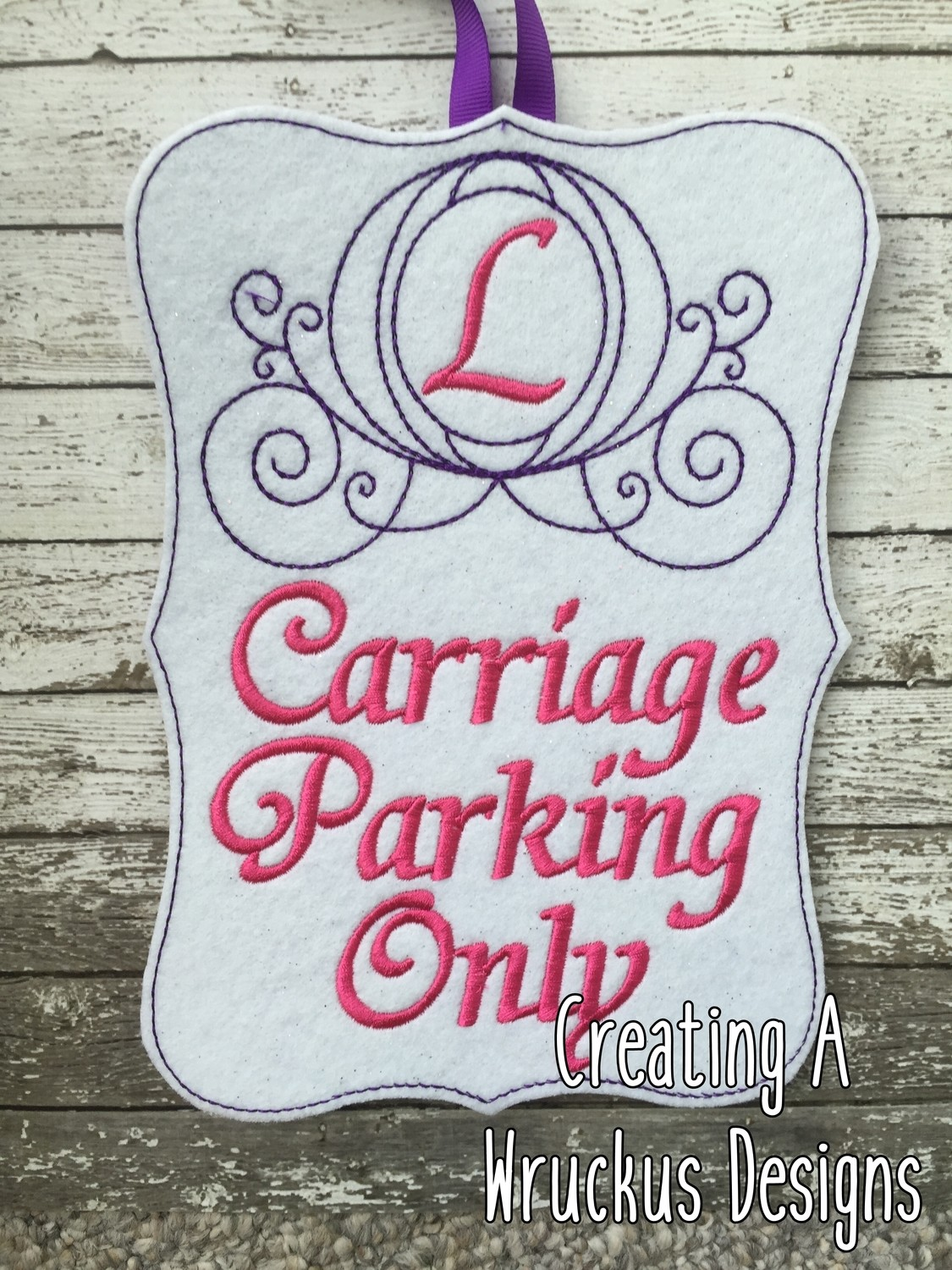 Carriage Parking Sign