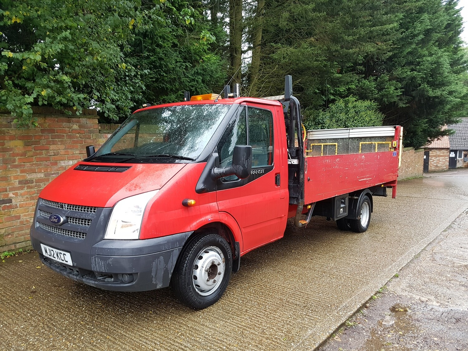 Ford Transit lwb dropside truck with tail lift 2012