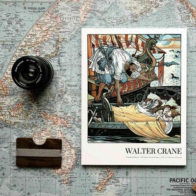 Princess Brunette, Walter Crane Notebook Edition, Dot Grid Notebook