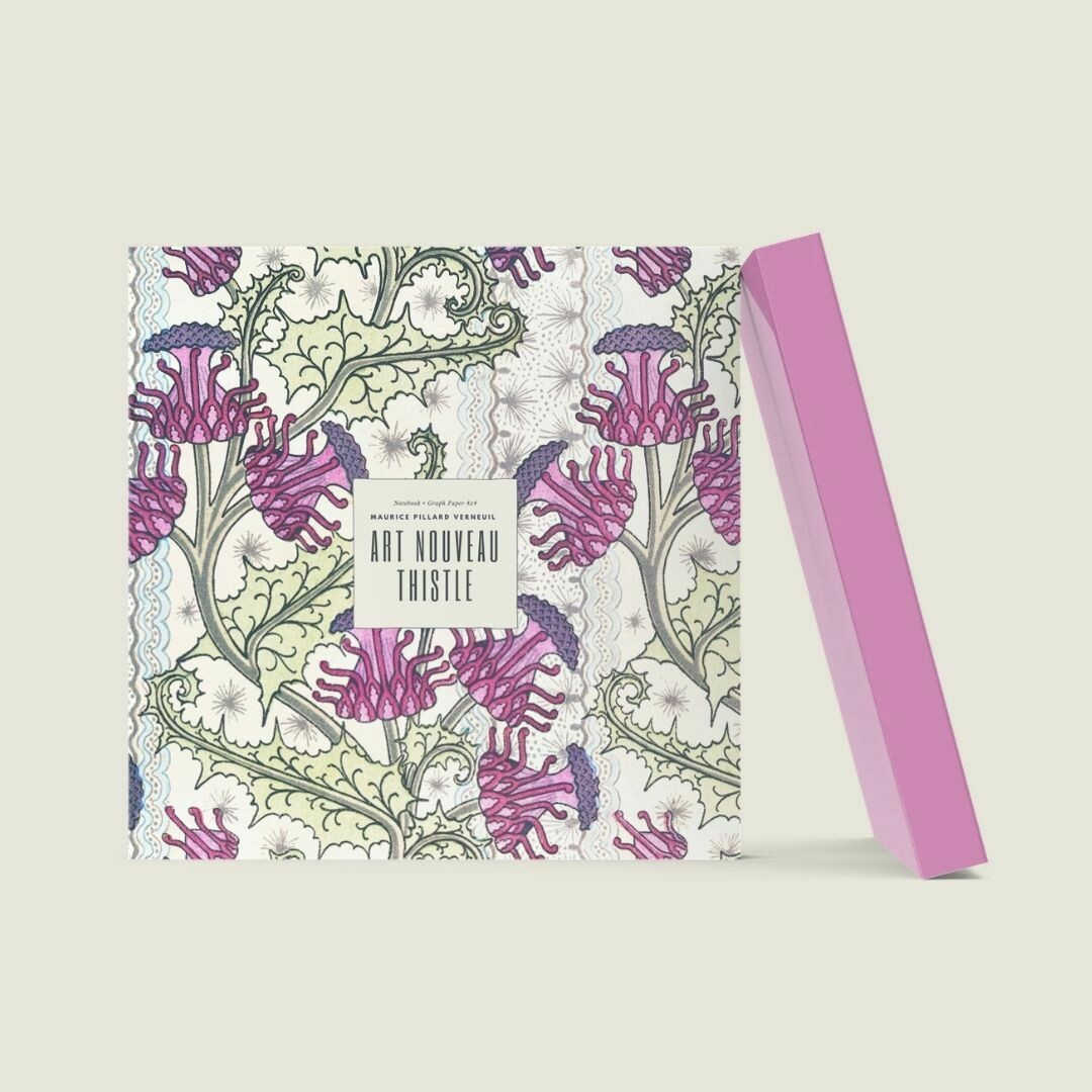 Art Nouveau Thistle: Maurice Pillard Verneuil Notebook