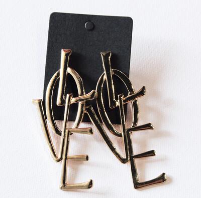 Gold Love Earring