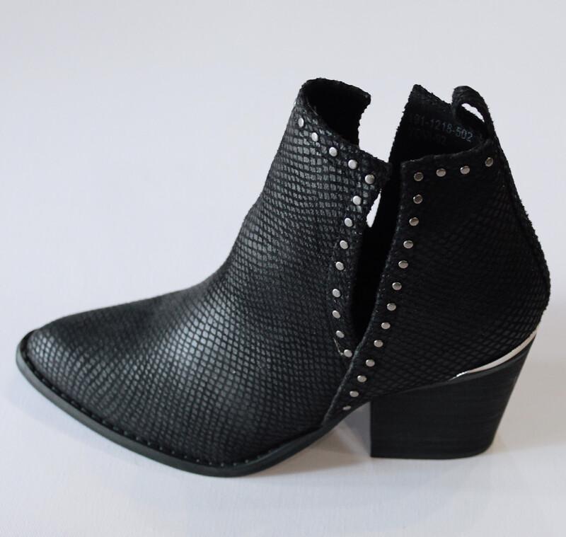 Black Studded Bootie