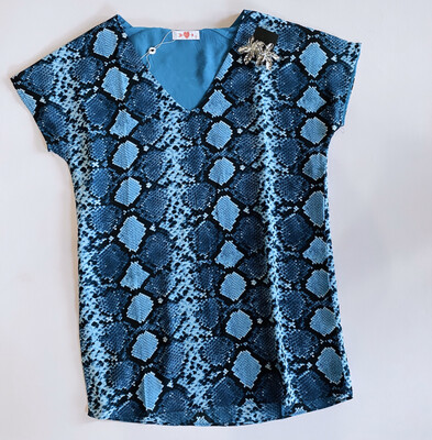 Buddy Love Azul Snake Dress