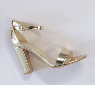 Gold Metallic Heel