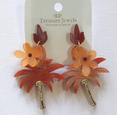 Palm Flower Earring