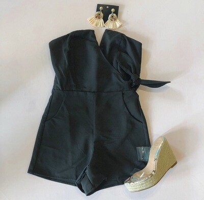 Black Sweetheart Romper
