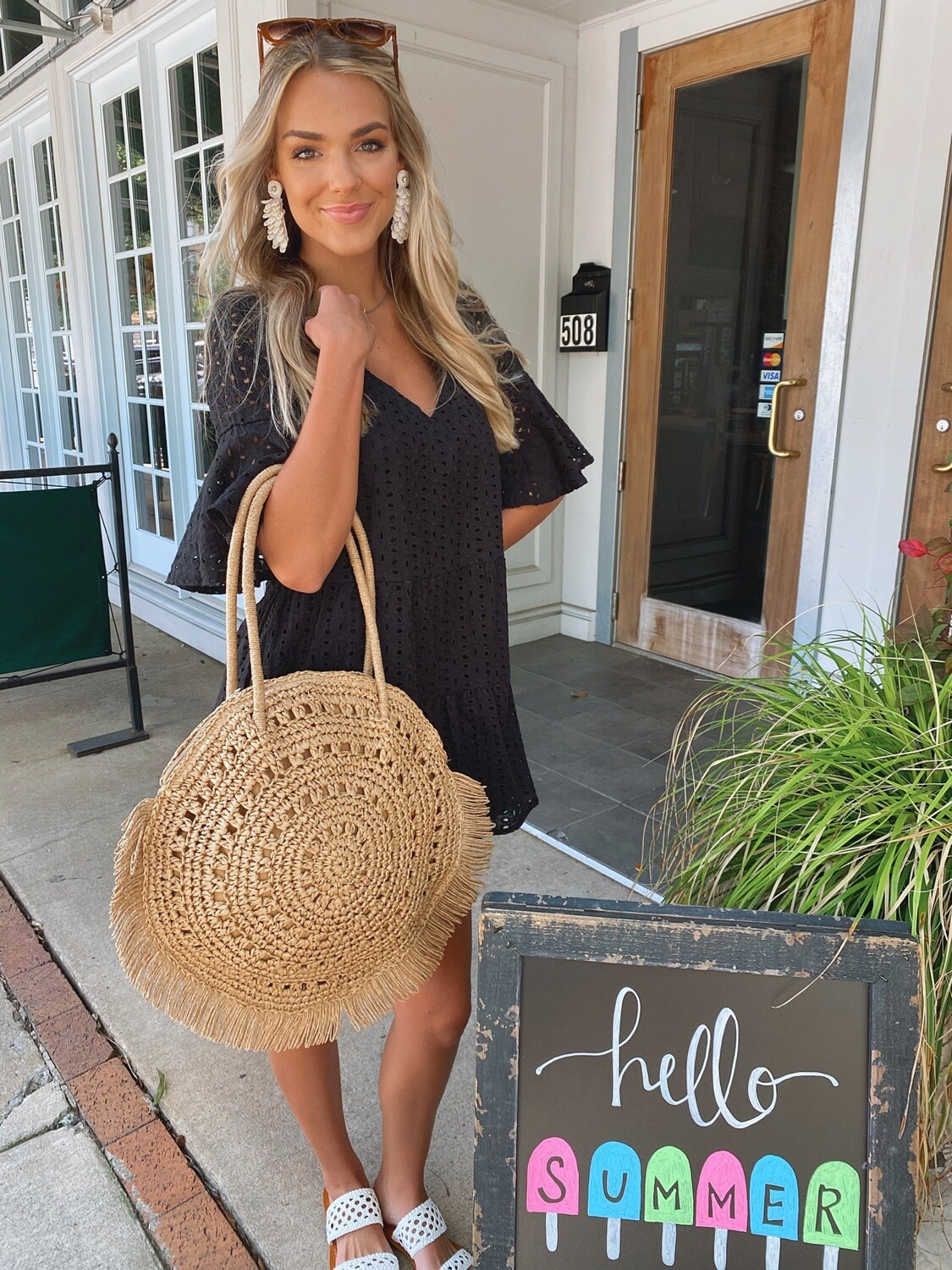 Summer Straw Tote
