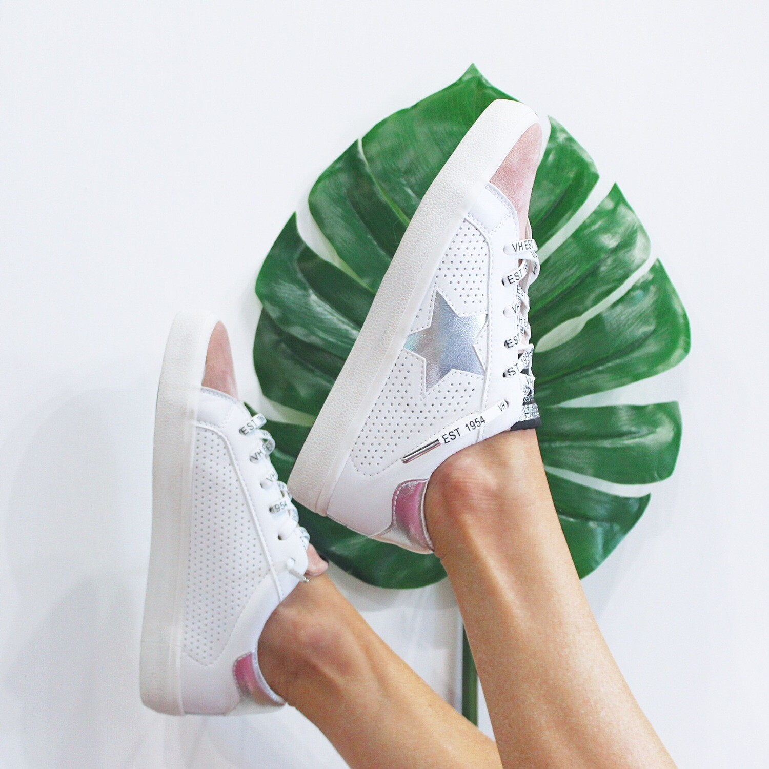 Blush Suede Sneaker