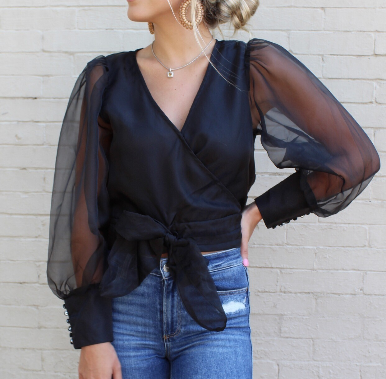 Black Organza Top