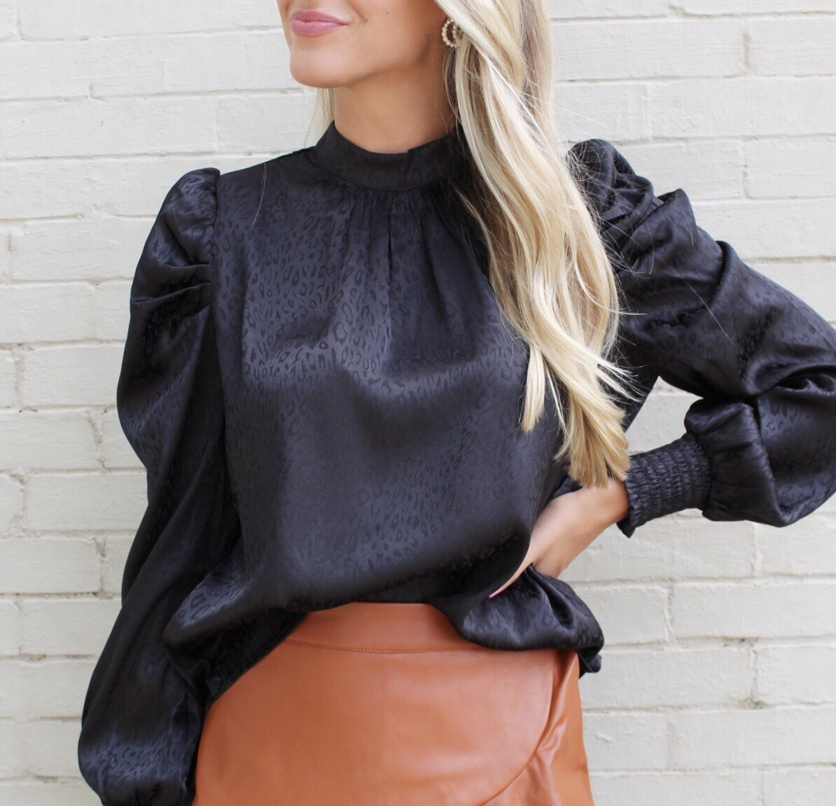 Black Spotted Blouse