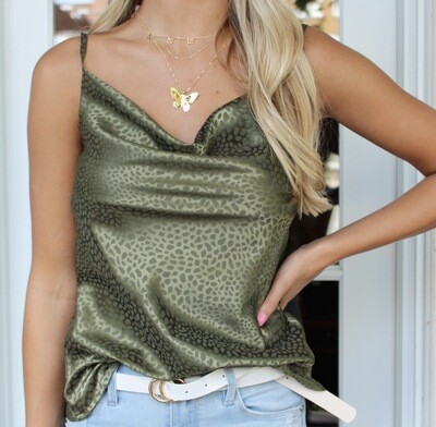 Olive Spotted Cami