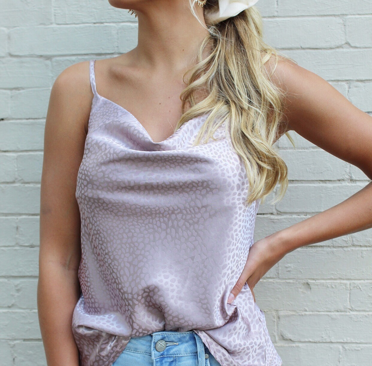 Spotted Mauve Cami