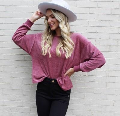 Velvety Mauve Sweatshirt