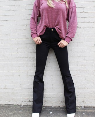 Blank NYC stretch flares