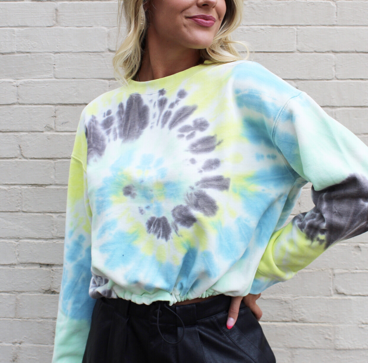 Adjustable Tie Dye Sweatshirt