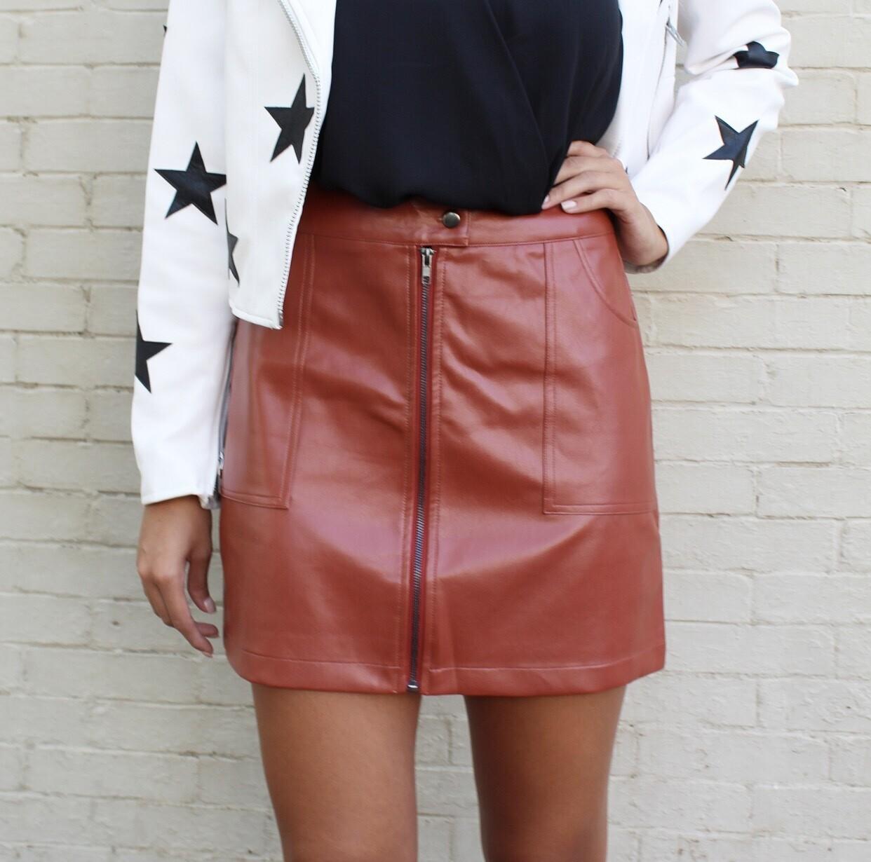 Camel Zipper Skirt
