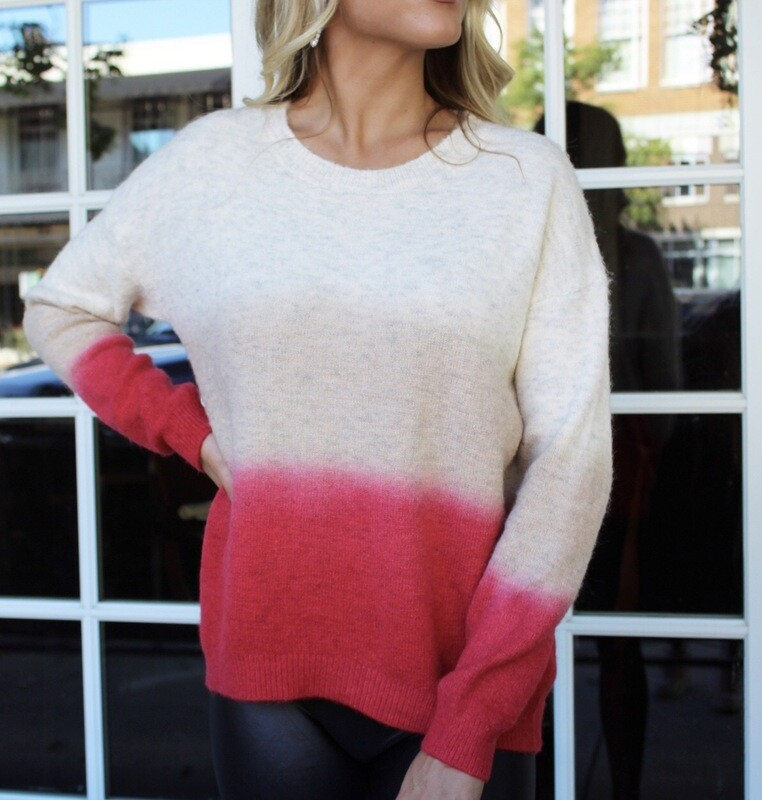 Coral Ombré Sweater