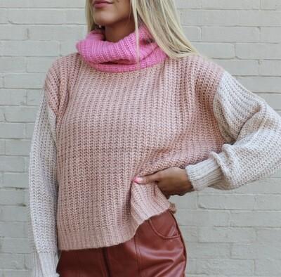 Bubblegum Colorblock Sweater