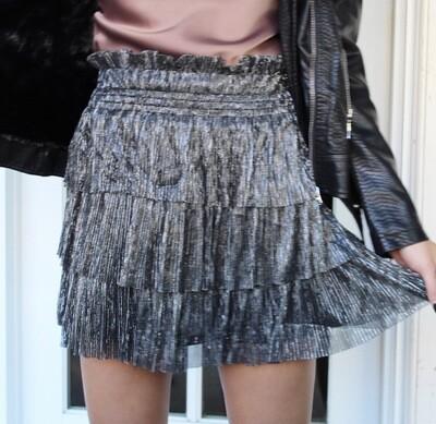 Gunmetal Liquid Shimmer Skirt
