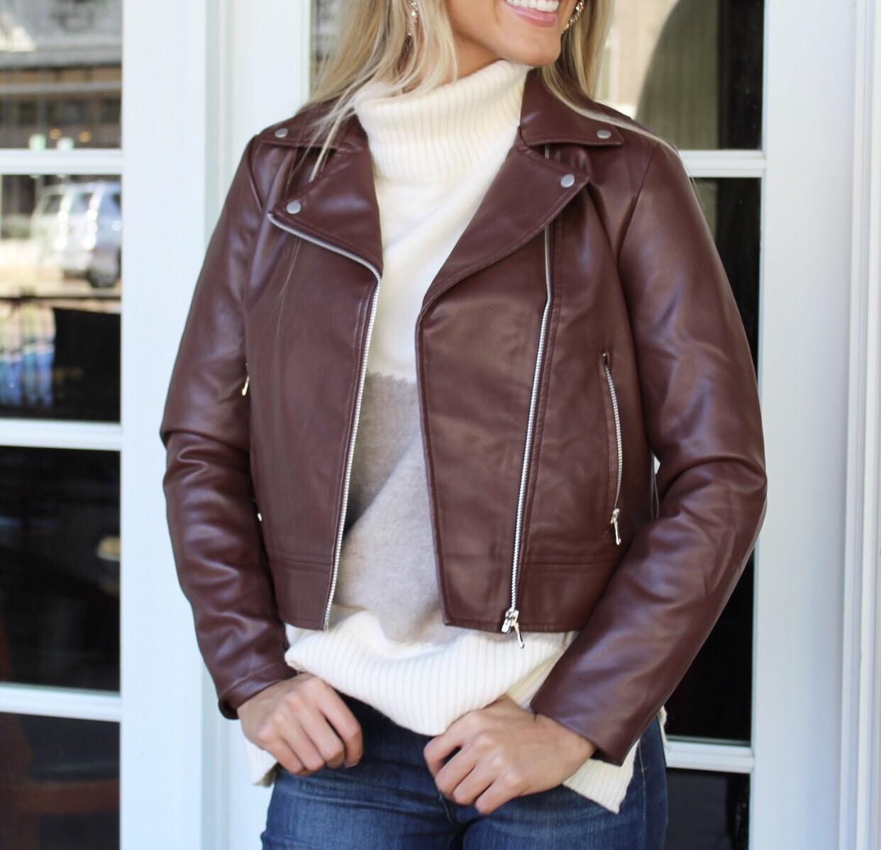 Chocolate Moto Jacket