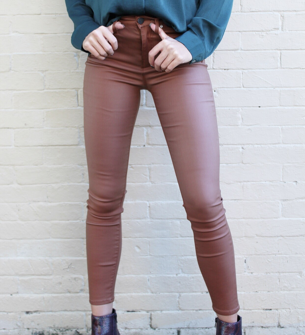 Chestnut Coated Skinnies