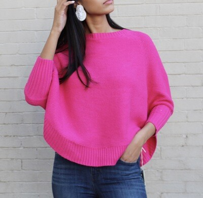 Fuchsia Batwing Sweater