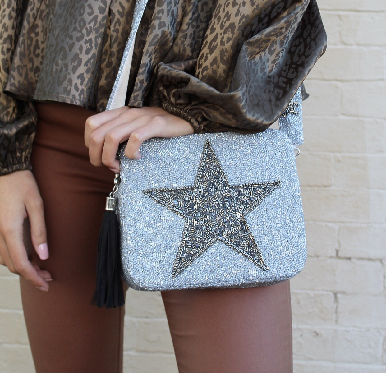 Preorder Grey/Pewter Star Crossbody