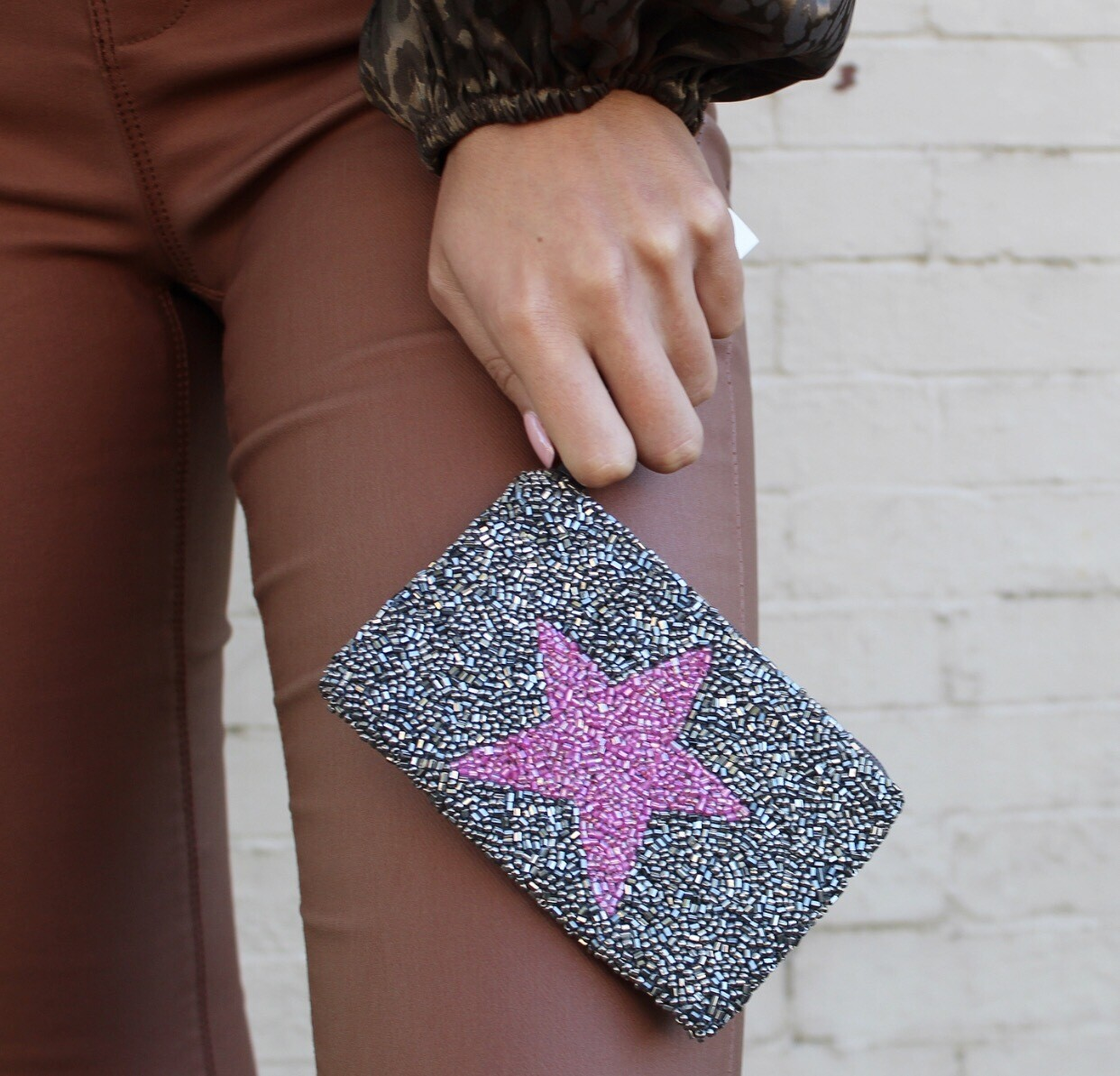 Pewter Star Coin Purse