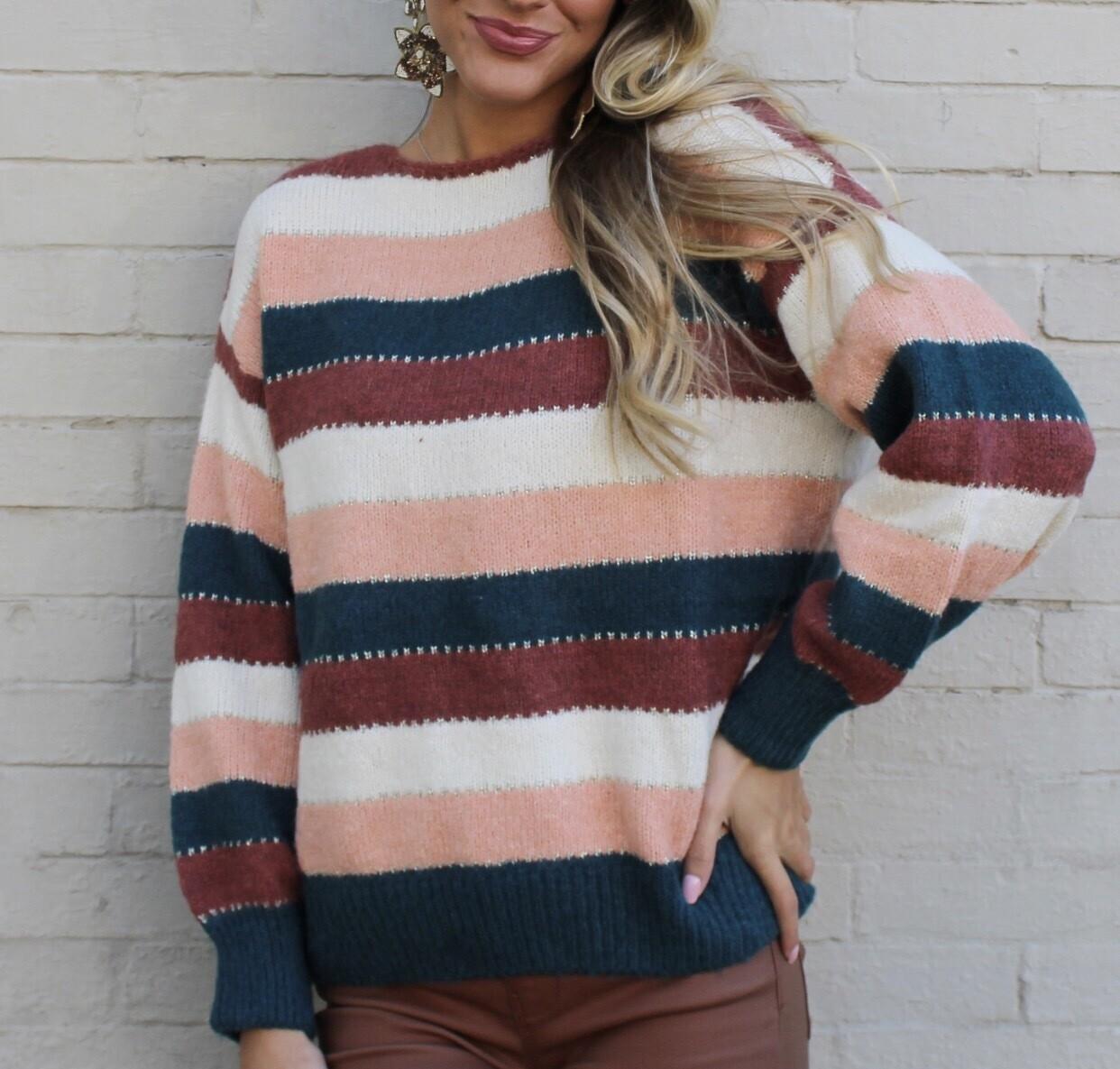 Grateful Stripe Sweater